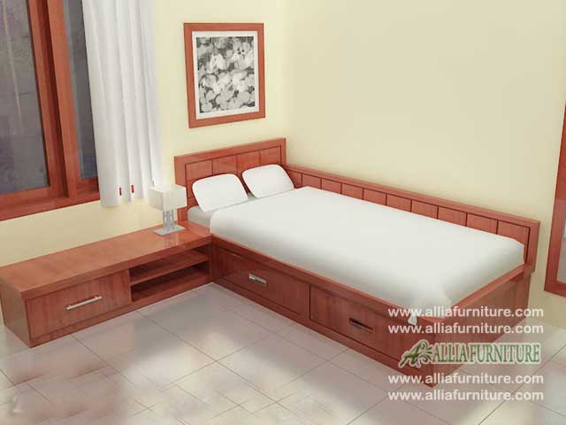 tempat tidur minimalis laci model chester