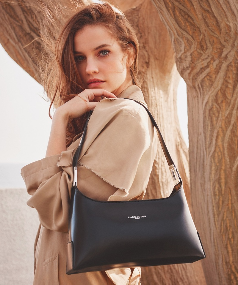 Barbara Palvin returns as the face of Lancaster's fall-winter 2021 campaign.