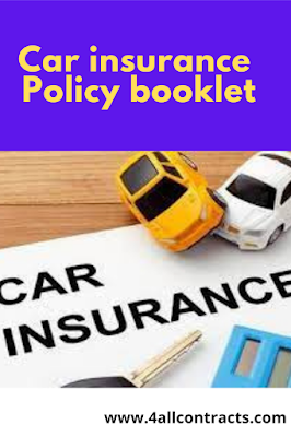 Car Insurance Policy Document and booklet