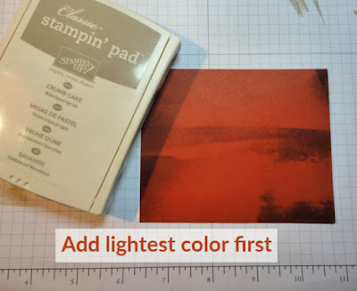 card making technique photo tutorial: Faux Wood Technique