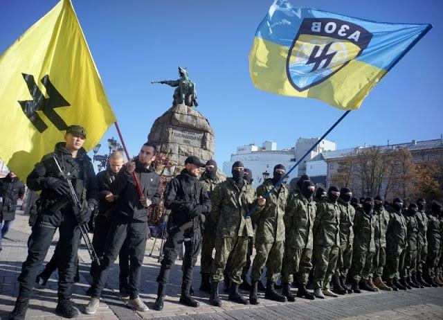 Ukrajna címere a szélsőséges szervezetek jelképei között