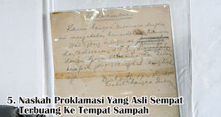 Naskah Proklamasi Yang Asli Sempat Terbuang Ke Tempat Sampah merupakan salah satu fakta menarik sejarah kemerdekaan RI