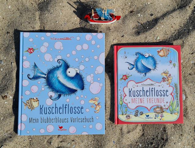 """Ahoi Fischhausen! Die """"Kuschelflosse""""-Kinderbücher und -Hörbücher. Zu den Büchern gehören auch ein Vorlesebuch und ein Freundebuch!"""