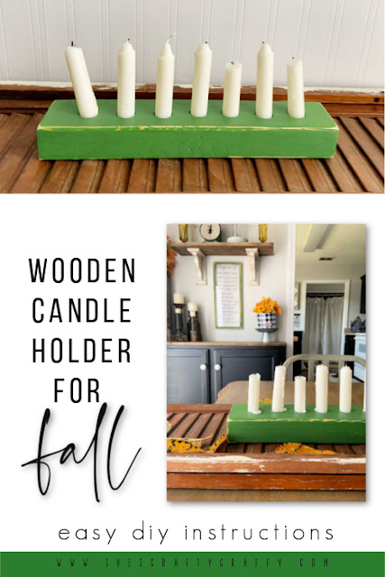 Wooden Candle Holder for Fall