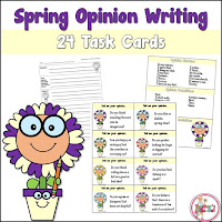 Spring Opinion Writing Task Cards