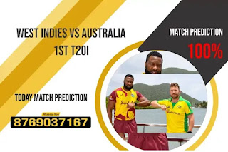 Aus vs WI Sure 1st T20 Match 100% Sure Today Match Prediction Tips