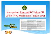Kumpulan Alamat POS dan CP LPTK PPG Madrasah Tahun 2021