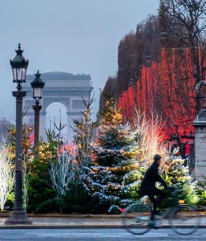 Traveling Paris Champs-Elysees