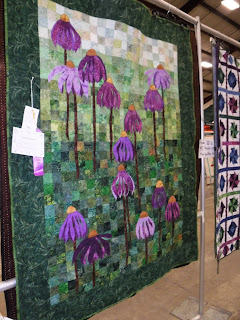 a coneflower inspired quilt at the North Iowa Fair in Mason City