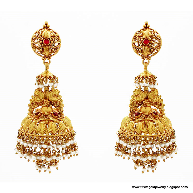 Gold Jewellery Designs Earrings With Price