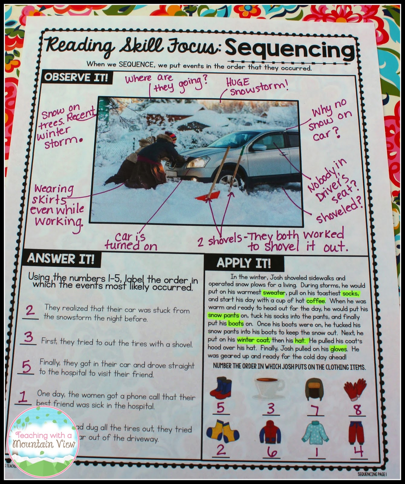 Teaching With A Mountain View Using Pictures To Teach Reading And Writing Skills