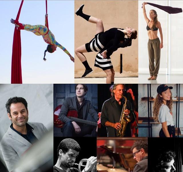 Collage%2Bdanza%2By%2Bmusica%2BFuerteventura - Fuerteventura.- 'En Paralelo' lleva danza aérea y contemporánea, y una sesión de jazz auténtico y mestizo e