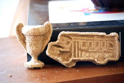 plaster of Paris sand molds