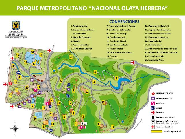 plano parque nacional bogota