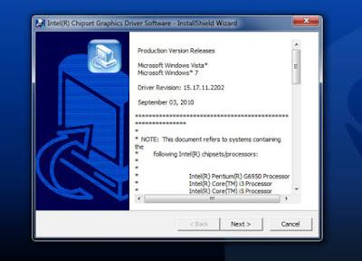 Intel HDグラフィックスフルドライバーのダウンロード