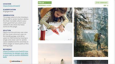 Vihreät have an image-heavy site