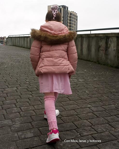 con hilos, lanas y botones: redecilla moño y calentadores ballet