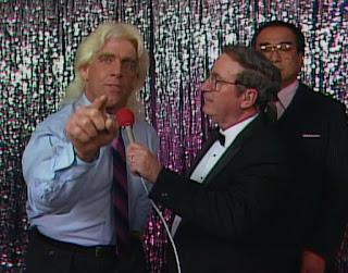 NWA Chi-Town Rumble 1989 - Ric Flair cuts a promo on his opponent, Ricky Steamboat