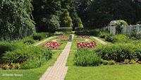 Formal garden, Kellogg Center and Osborne Museum, Derby, CT