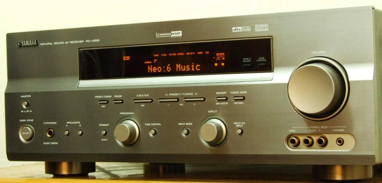 yamaha rx v559 av receiver audiobaza. Black Bedroom Furniture Sets. Home Design Ideas