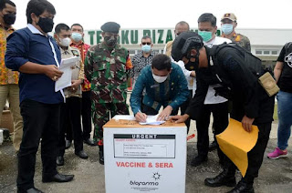 Sumut Kembali Terima 32.880 Dosis Vaksin Covid-19 untuk 30 Kabupaten/Kota