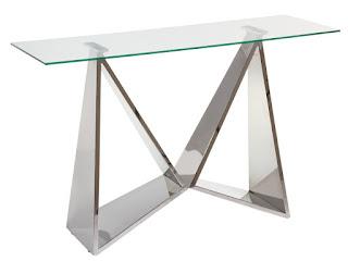 mueble entrada acero plata