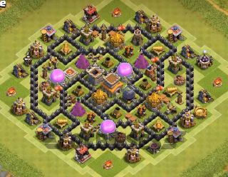Base CoC TH 8 Pertama
