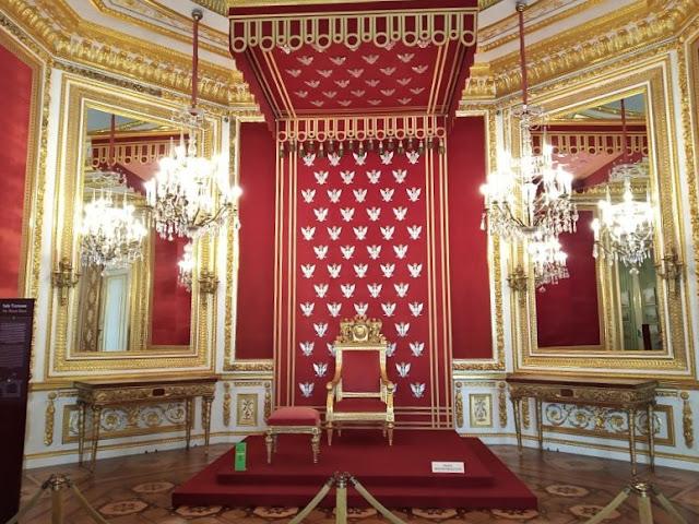 sala del trono nel castello reale di varsavia