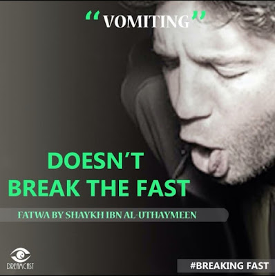 Vomiting does not break the fast | Those Things that Break the Fast or Not by Ummat-e-Nabi.com