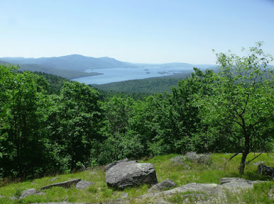 View of Lake George from Walnut Ridge in the Pole Hill Pond Preserve, Monday July 4, 2016.  The Saratoga Skier and Hiker, first-hand accounts of adventures in the Adirondacks and beyond, and Gore Mountain ski blog.