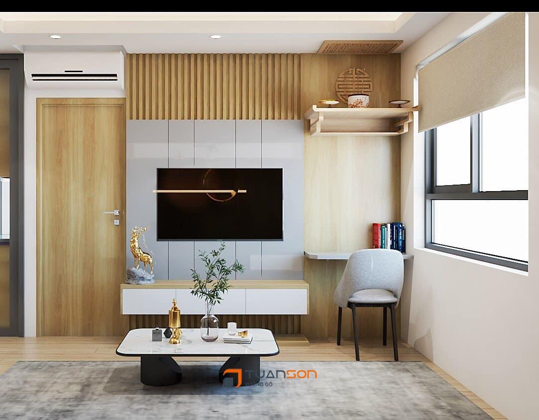 Thiết kế nội thất căn hộ 2 phòng ngủ chung cư IEC Thanh Trì