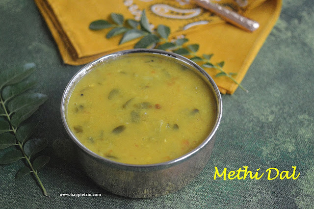 Methi Dal Recipe | Dal with Fenugreek Leaves | Vendhya Keerai Paruppu