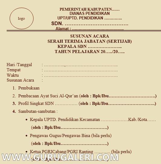 Kumpulan Contoh Berkas Administrasi Sertijab Kepala Sekolah Lengkap Guru Galeri