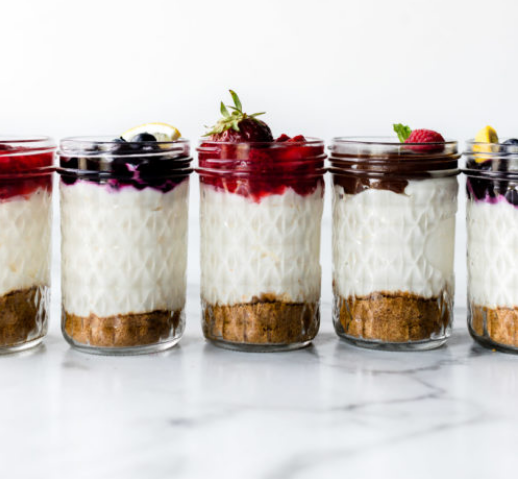 No-Bake Cheesecake Jars #cheesecake #desserts #bars #snack #yummy