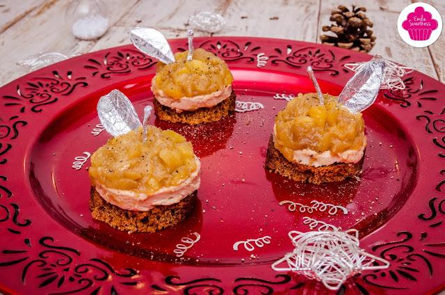 Tatins de foie gras aux pommes avec pain d'épices - Bataille Food #51 - Mises en bouche en habit de fête