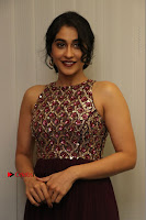 Actress Regina Candra Latest Stills in Maroon Long Dress at Saravanan Irukka Bayamaen Movie Success Meet .COM 0028.jpg