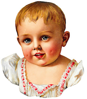 baby vintage victorian image clipart illustration digital child