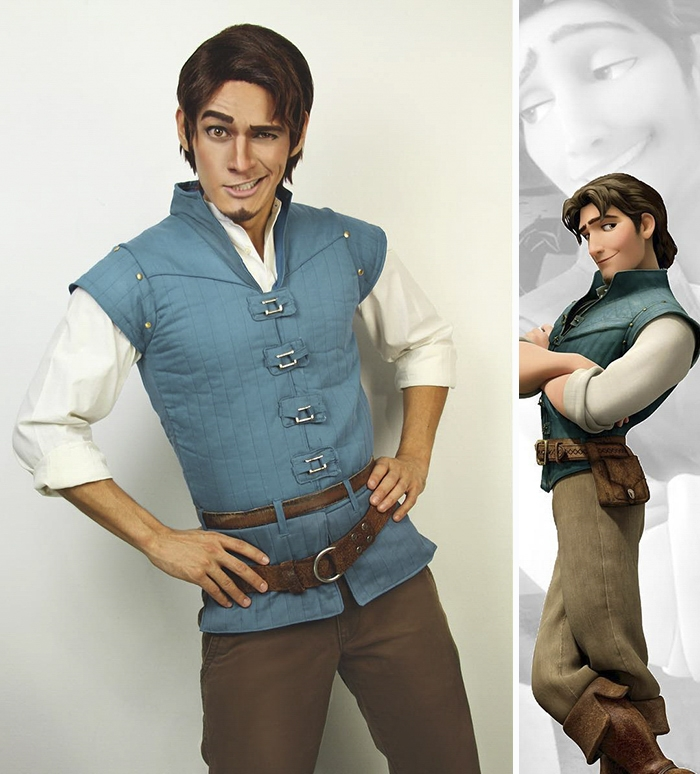 01-Flynn-Rider-Tangled-Jonathan-Stryker-Body-Paint-Cosplay-Transforms-into-Animations-and-Cartoons-www-designstack-co