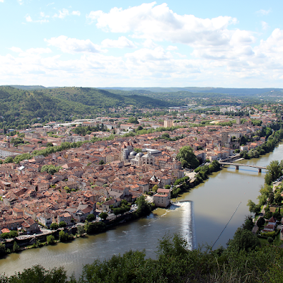 Views of Cahors from Le Mont Saint Cyr.