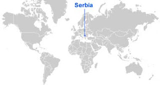 image: Serbia Map location