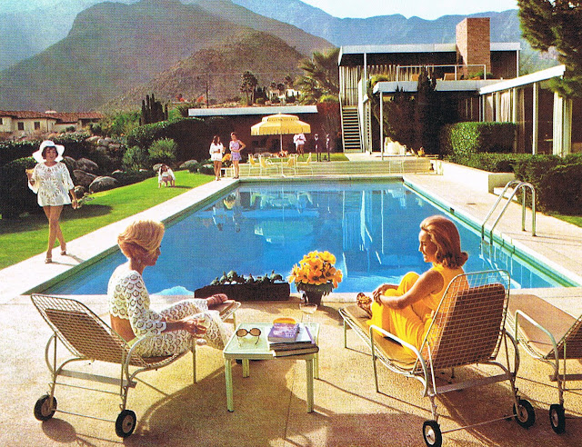 The glam pad from slim aarons to meg braff this pool for Pool design 1970