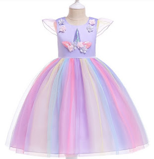 Unicorn Dress Girls Sleeveless Princess Dress