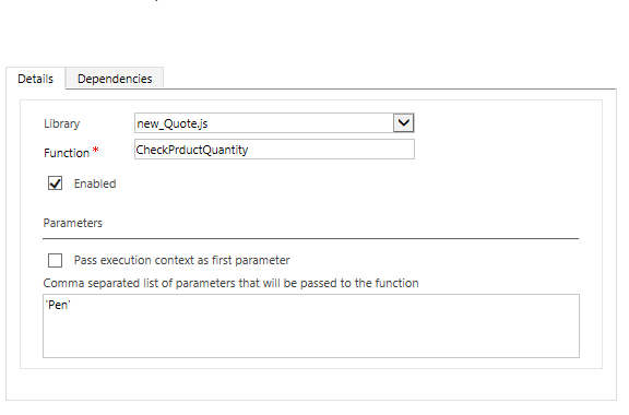 ms crm customization: minimum product quantity required when, Invoice examples