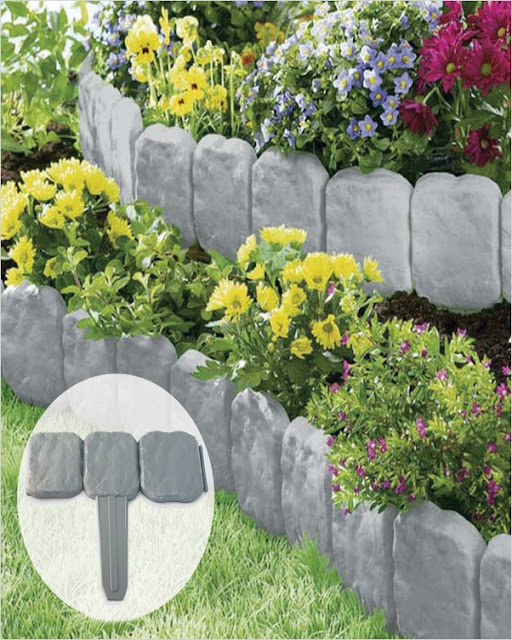 garden border stone edging ideas on a budget