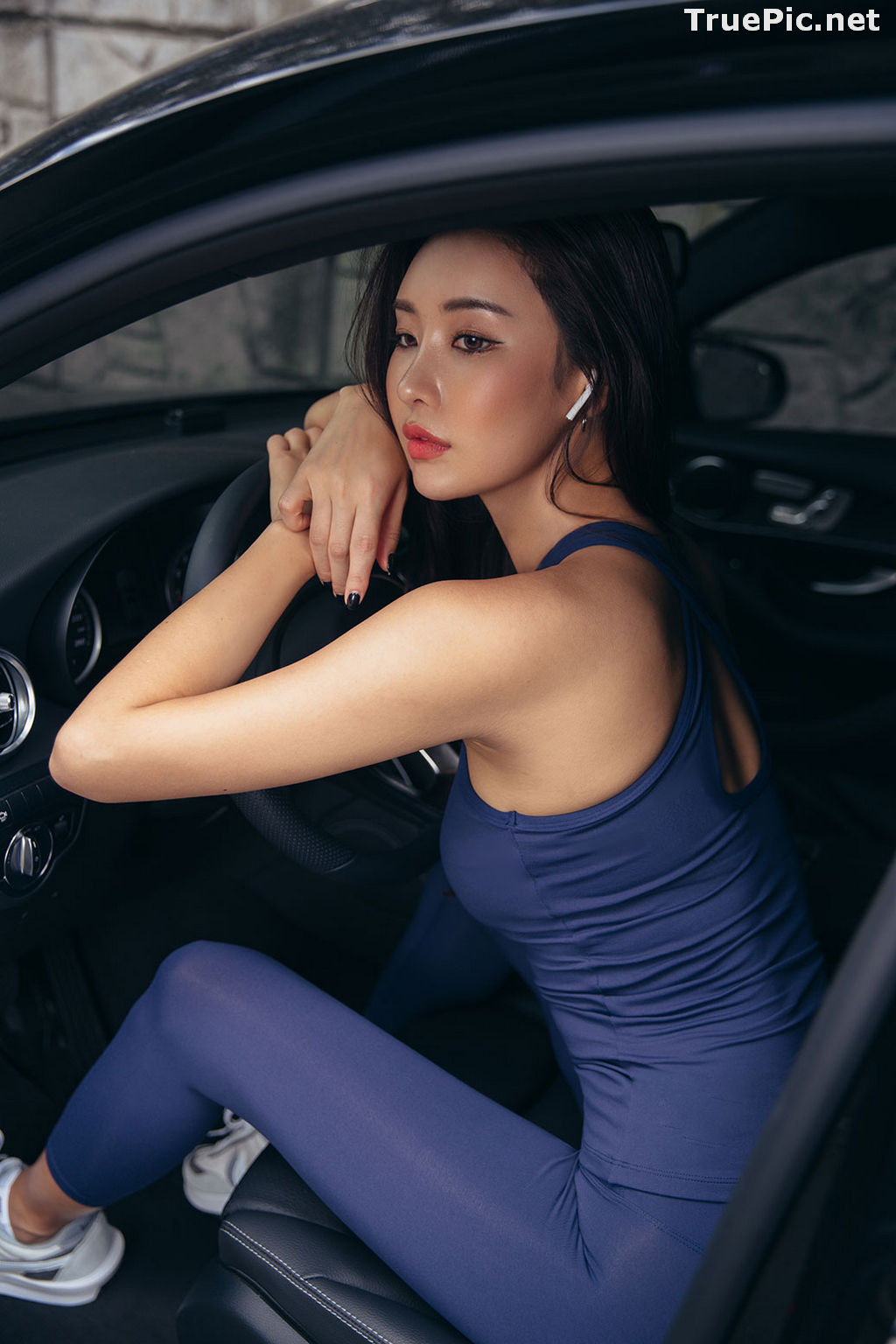 Image Korean Fashion Model - Park Da Hyun - Navy Sportswear - TruePic.net - Picture-1