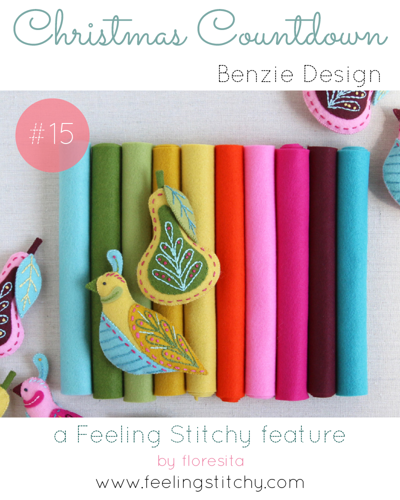 Christmas Countdown 15 - Benzie Design Felt Bundle curated by Mmm Crafts, featured on Feeling Stitchy by floresita