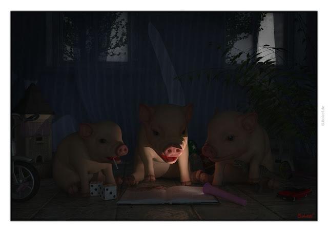 Kochbuchgeschichten 3 kleine Schweinchen