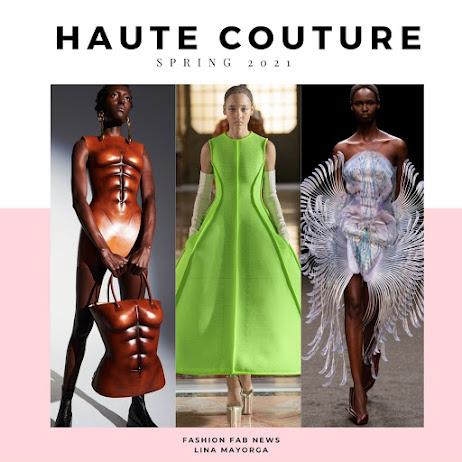 Schiaparelli , Valentino and Iris Van Herpen Haute couture Spring 2021