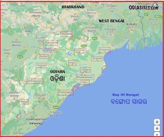 odisha map with district name