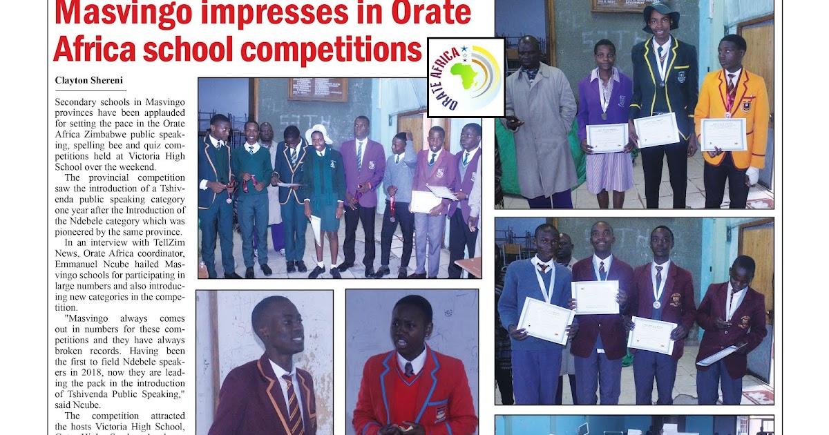 Masvingo Impresses In Orate Africa School Competitions